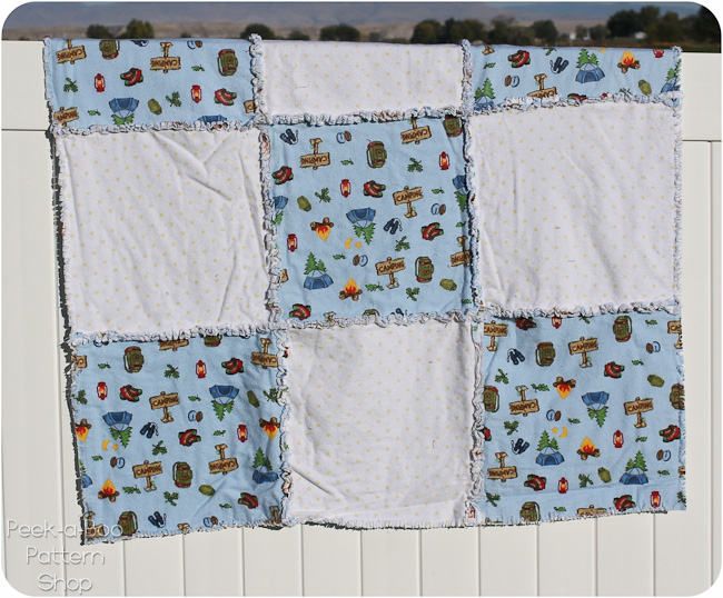 square rag quilt pattern