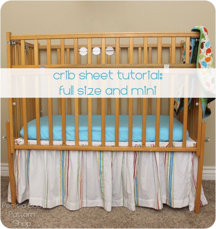 Crib Sheet Tutorial Peek A Boo Pages Sew Something Special