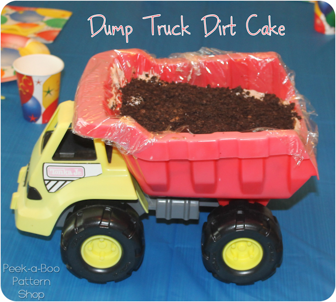 Dump Truck Birthday Cake Peek A Boo Pages Patterns Fabric More