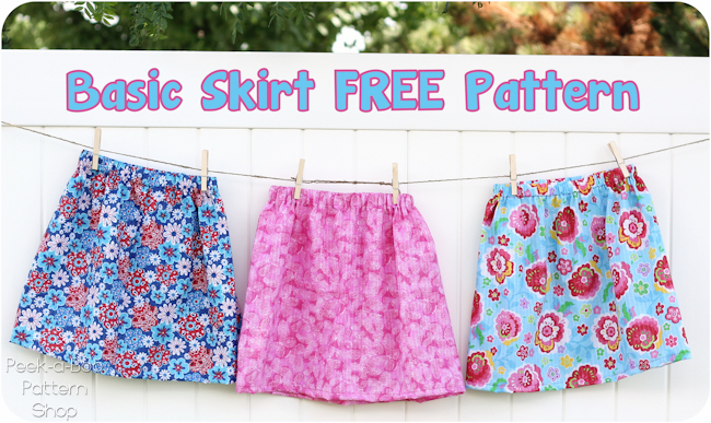 Free Skirt Pattern Peek A Boo Pages Patterns Fabric More