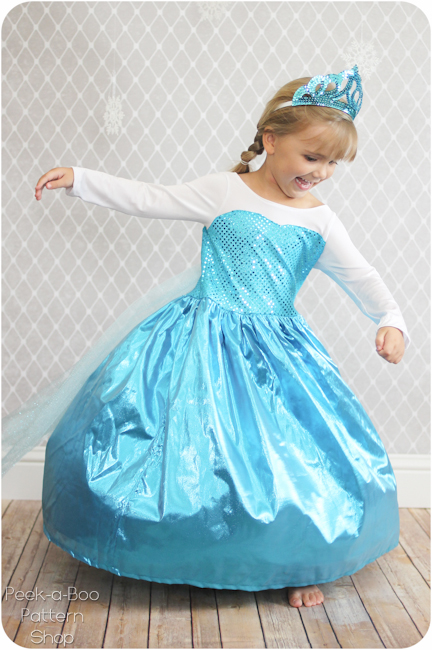 ice queen costume diy peek a boo pages patterns. Black Bedroom Furniture Sets. Home Design Ideas