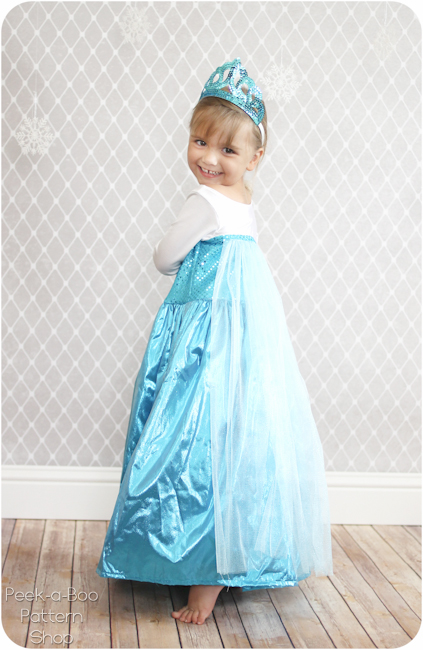 ice queen costume diy peek a boo pages patterns fabric more. Black Bedroom Furniture Sets. Home Design Ideas