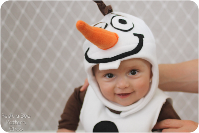 Olaf inspired costume tutorial peek a boo pages patterns fabric img0061 solutioingenieria Image collections