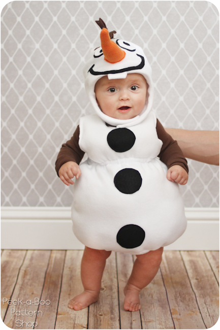 Olaf Inspired Costume Tutorial Peek Boo Pages