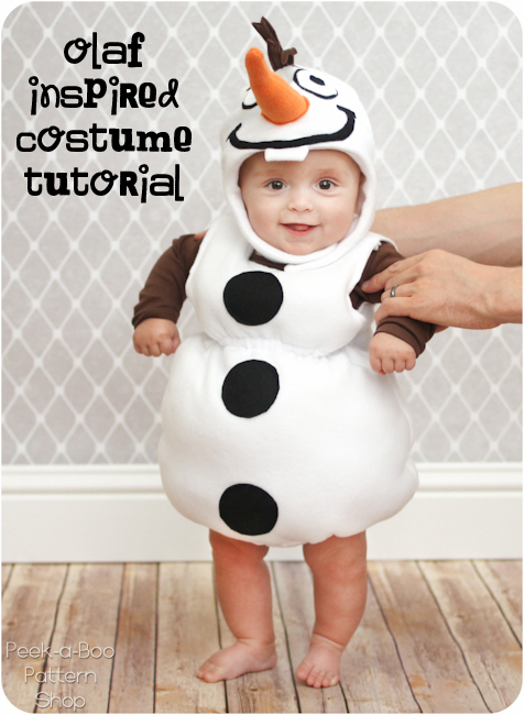 Olaf Inspired Costume Tutorial Peek Boo Pages Sew