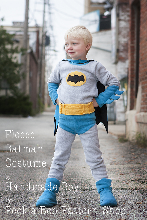 Fleece Batman Costume Tutorial - Peek-a-Boo Pages - Patterns, Fabric ...
