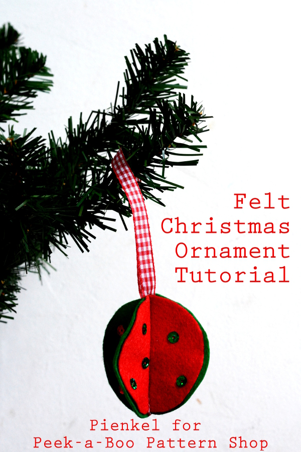 Felt Christmas Ornament Tutorial small