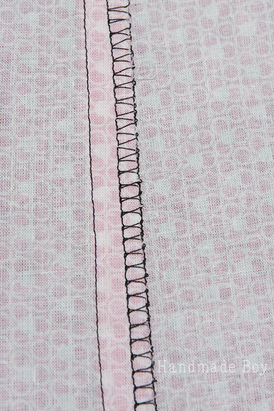 overlock stitch seam finish