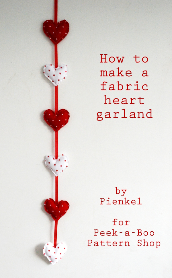 How to make a heart garland - Pienkel for Peekaboo - small