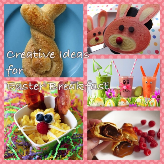 easter breakfast collage
