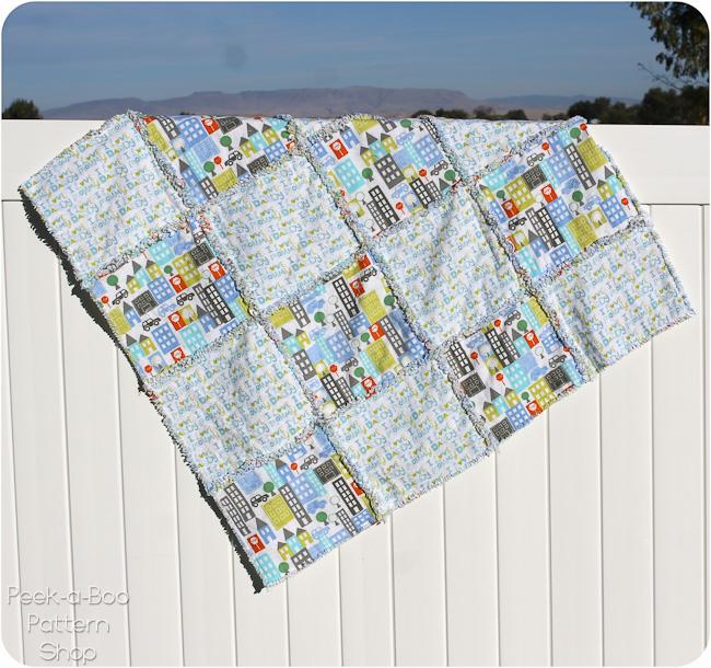 square rag quilt