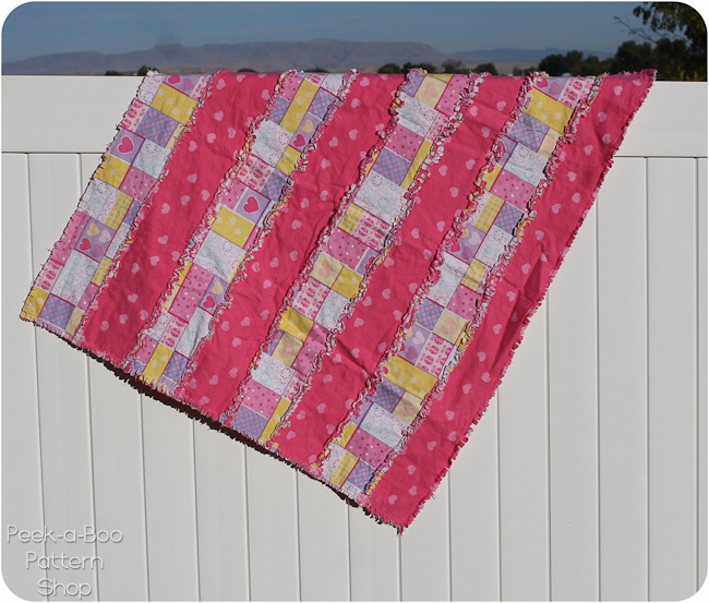 basic stripe rag quilt