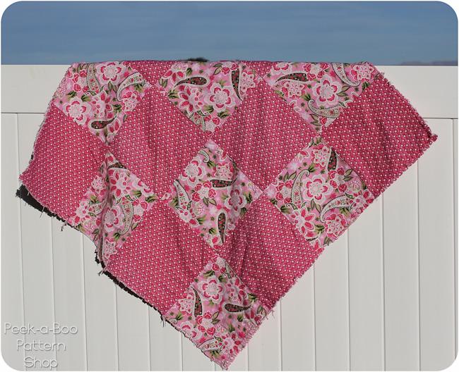 floral rag quilt