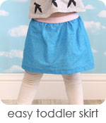 easy toddler skirt