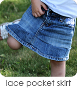 lace pocket skirt