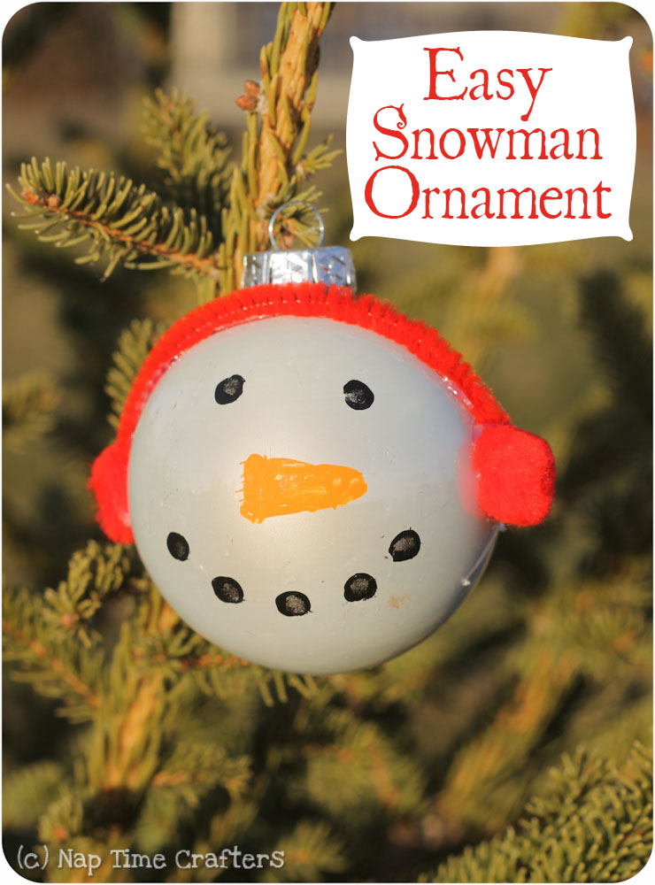 Easy Snowman Ornament Tutorial Peek A Boo Pages
