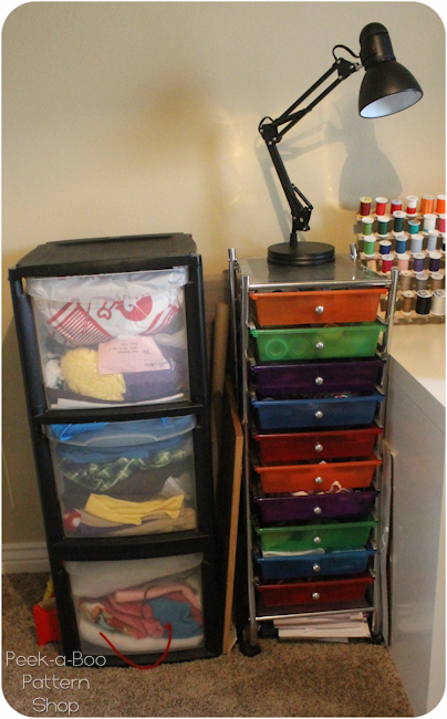 fabric organization bins