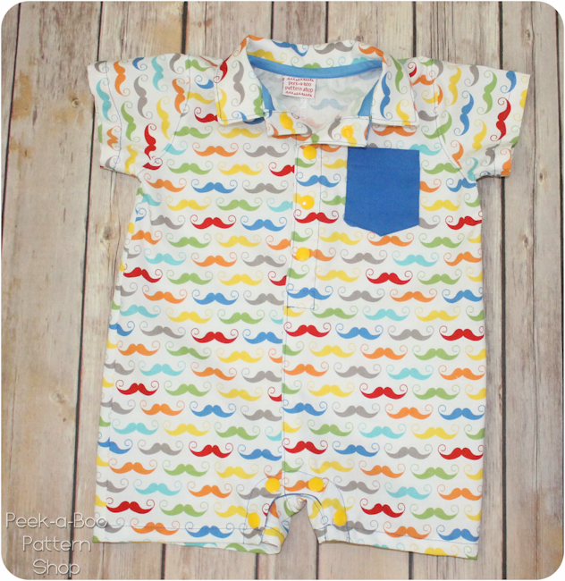 Free Button Up Baby Romper Pattern Peekaboo Pages