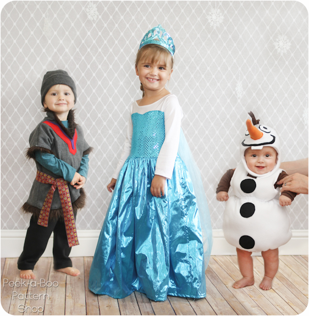 Olaf Inspired Costume Tutorial PeekaBoo Pages Patterns Fabric Custom Toddler Halloween Costume Patterns