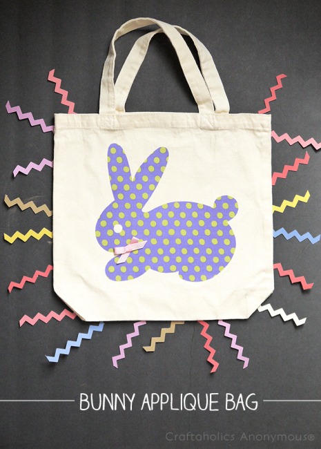 bunny applique bag