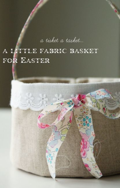 linen fabric basket